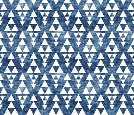 stacked_navy fabric by holli_zollinger on Spoonflower - custom fabric
