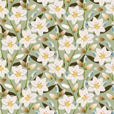 Lily Field 4 fabric by eclectic_house on Spoonflower - custom fabric