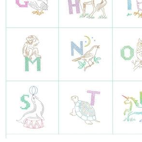 Vintage Alphabet Cuddle Quilt