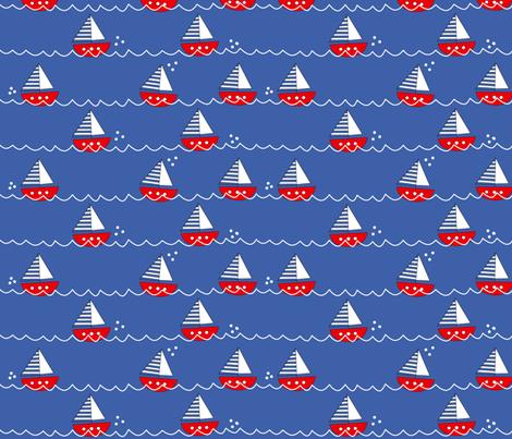 Sail Boat fabric by kathrinlegg on Spoonflower - custom fabric