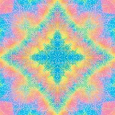 Rainbow Diamond Tie Dye