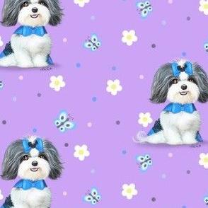 April Malshi Purple Pattern M