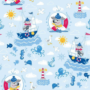 Salty Sea Dog - Sky Blue