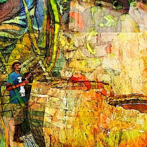 Sao Antao Caboverde Grog fabric
