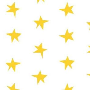Wonky Stars - Yellow