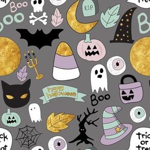 "8"" Pastel Halloween Grey"