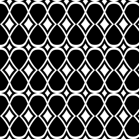 Infinity - Geometric Black & White fabric by heatherdutton on Spoonflower - custom fabric