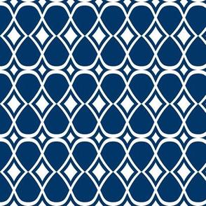 Infinity - Geometric Blue