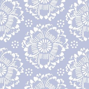 Flower dream periwinkle and white