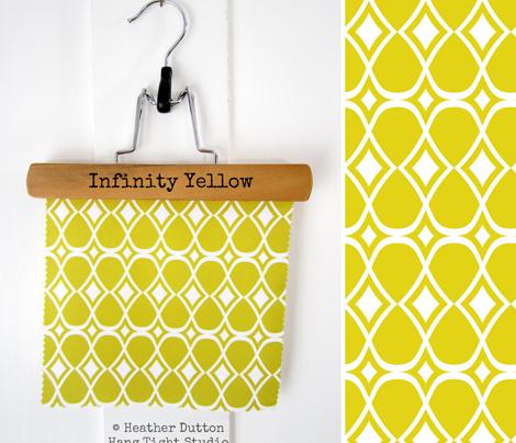 Infinity - Geometric Yellow