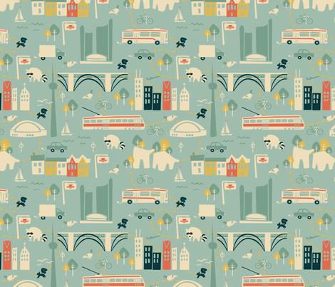 I heart TO II fabric by elainethebrain on Spoonflower - custom fabric