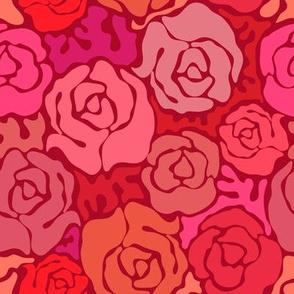 Simple vintage roses pattern.