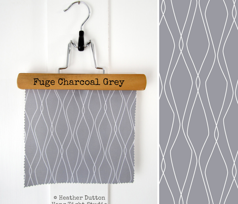 Fuge - Geometric Charcoal Grey