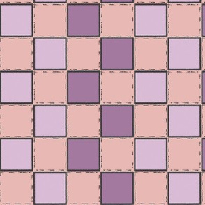 purple checker pink checker