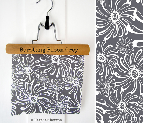 Bursting Bloom Floral - Charcoal Grey
