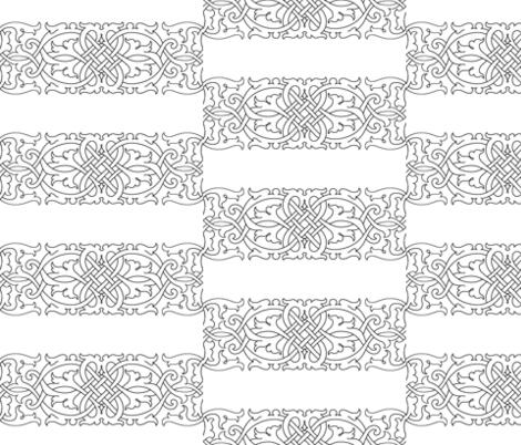 Tudor Floral Knotwork fabric by sidney_eileen on Spoonflower - custom fabric