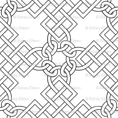 Elizabethan Blackwork Knotwork