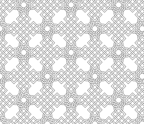 Elizabethan Blackwork Knotwork fabric by sidney_eileen on Spoonflower - custom fabric