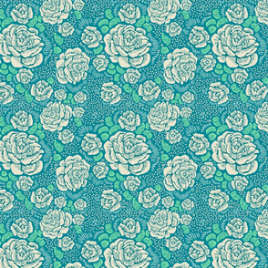 Rose remix  - turquoise aqua