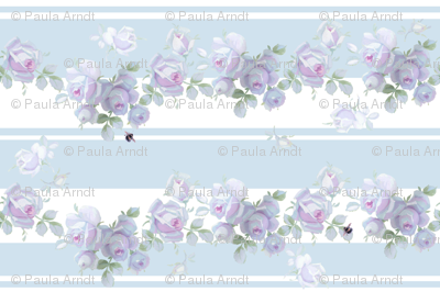Garden Rose Aqua Stripe