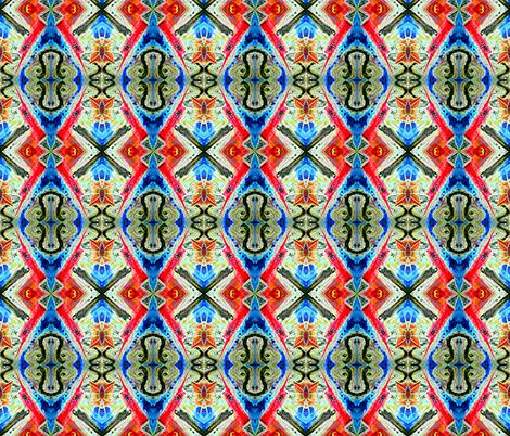 Mirrored Feline Space Nurse!  fabric by serenatoxicat on Spoonflower - custom fabric
