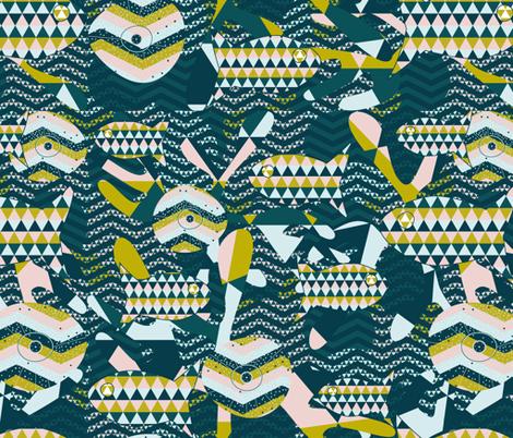Ocean fabric by andalouz on Spoonflower - custom fabric