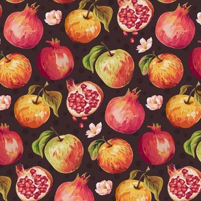 Autumn Splendour - Pomegranates & Apples