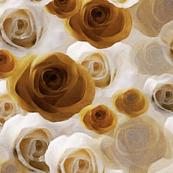 Minky Brown Roses