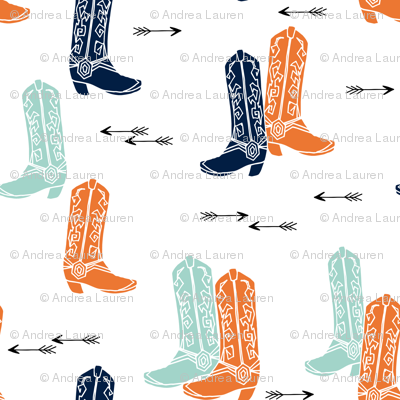 boots // western cowboy boots cowboys orange mint navy blue kids arrows