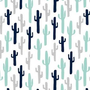 cactus // grey mint navy blue kids cactus cacti plants plant