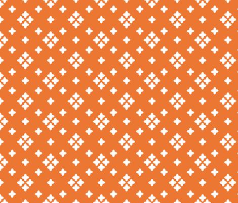 orange // plus cross coordinate kids baby swiss cross fabric by andrea_lauren on Spoonflower - custom fabric