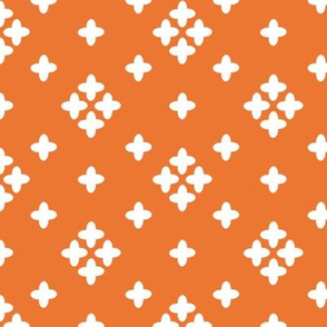 orange // plus cross coordinate kids baby swiss cross
