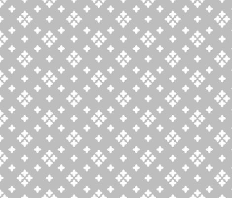 plus // grey plus coordinate kids grey nursery baby  fabric by andrea_lauren on Spoonflower - custom fabric