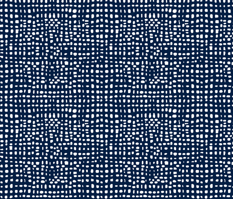 grid // weave navy blue coordinate kids baby nursery grids fabric by andrea_lauren on Spoonflower - custom fabric