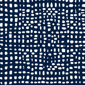 grid // weave navy blue coordinate kids baby nursery grids