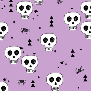 skulls // purple skull halloween creppy kids spiders baby nursery october
