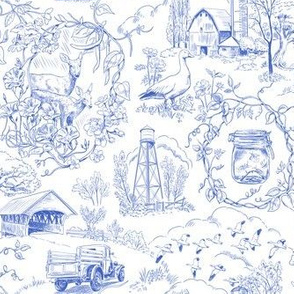 Country Living Toile