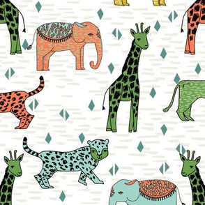 jungle // safari zoo animals kids baby giraffe zebra cheetah kids
