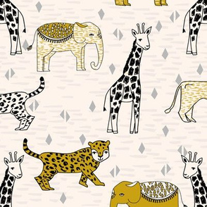 jungle // safari kids animals baby kids safari mustard kids