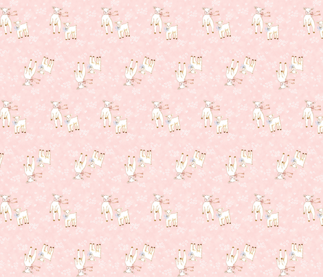 Lambs Pink fabric by susanbranch on Spoonflower - custom fabric