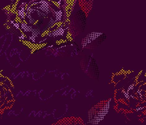 small_rose_purple fabric by veerapfaffli on Spoonflower - custom fabric