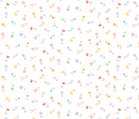 Diaper Pins fabric by susanbranch on Spoonflower - custom fabric