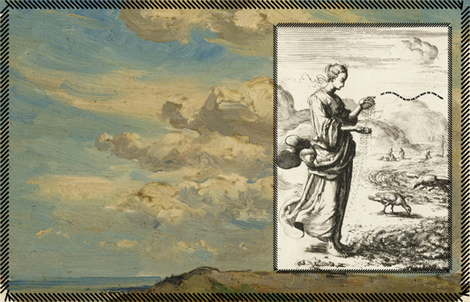 Beach Sky Oil Painting Rijksstudio fabric by jerseymurmurs on Spoonflower - custom fabric