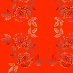 rose patchwork mini orange