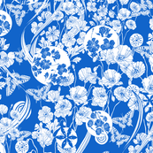 Poppy Dream. Bright blue