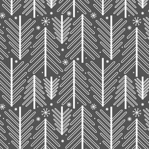 Holiday Trees - Gray