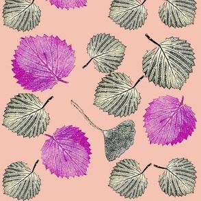 Sherbet Summer leaf Print