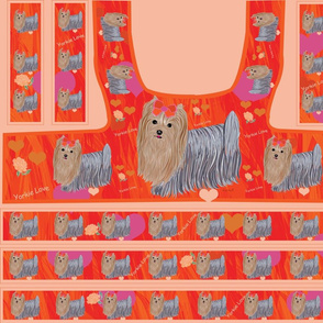 Yorkie -Orange Fushia Harness Pattern