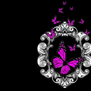 Pink Butterfly Frame