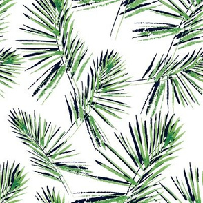 Watercolor Palm Leaves Pattern